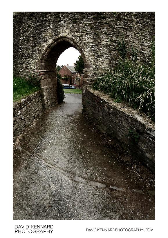 Doorway in Ludlow Castle Wall