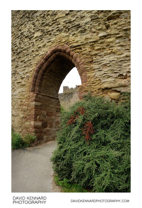 Ludlow Castle Wall Entrance