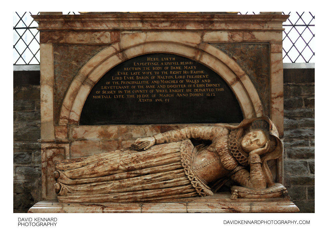 Tomb of Dame Mary Evre