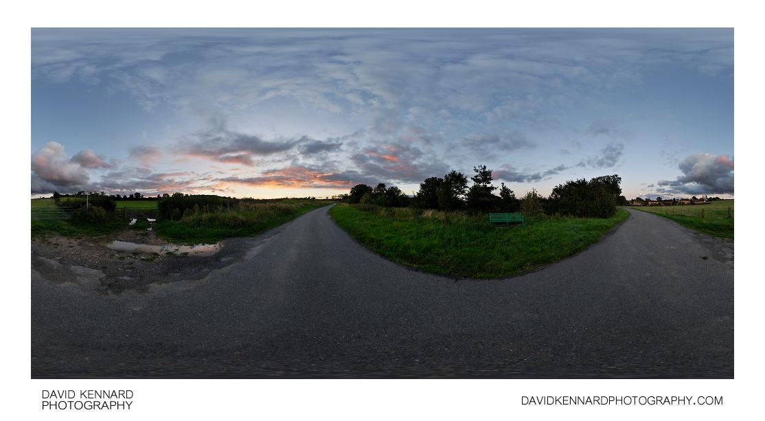 Lubenham Road, East Farndon at twilight