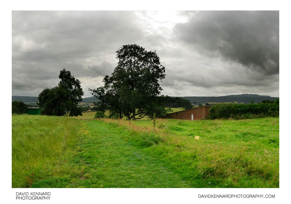 Hay fields at Acton Scott Farm
