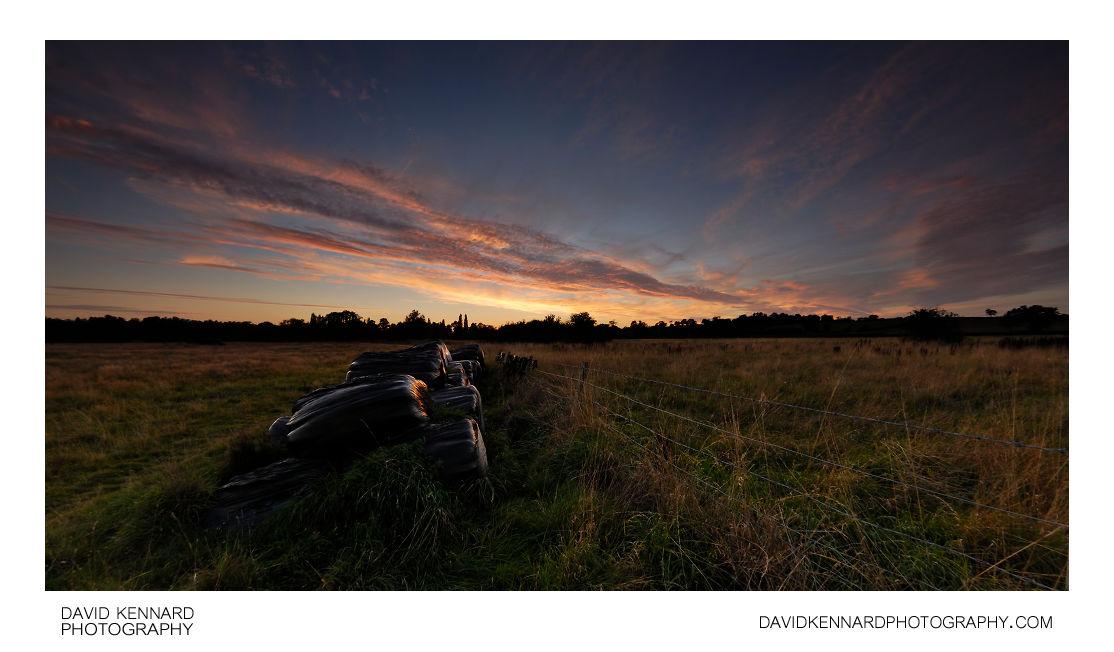 Field between Lubenham and Harborough at twilight