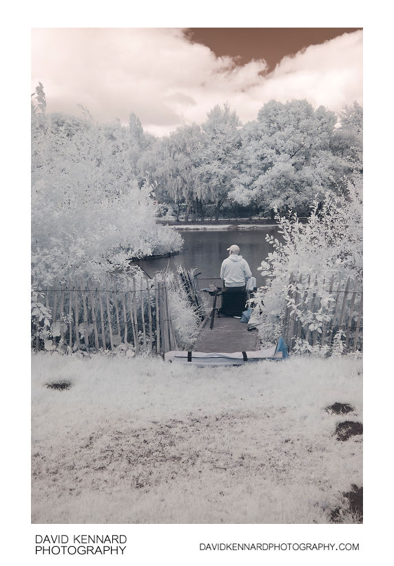 Fishing in Infrared, Corby Boating Lake