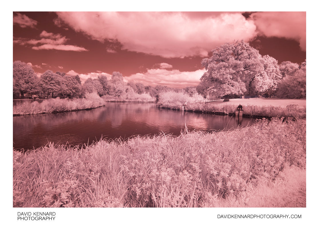 Corby Boating Lake in Infrared