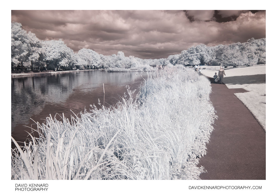 Corby Boating Lake in Infrared