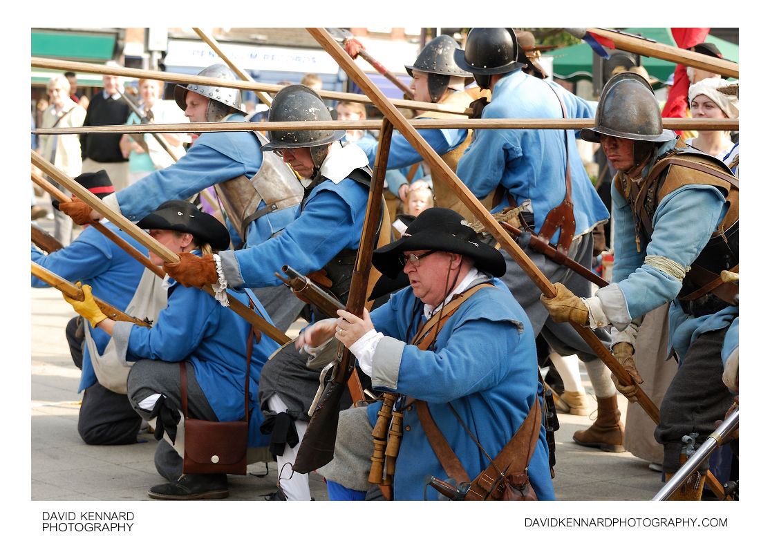 English Civil War Royalist Musketeers and Pikemen