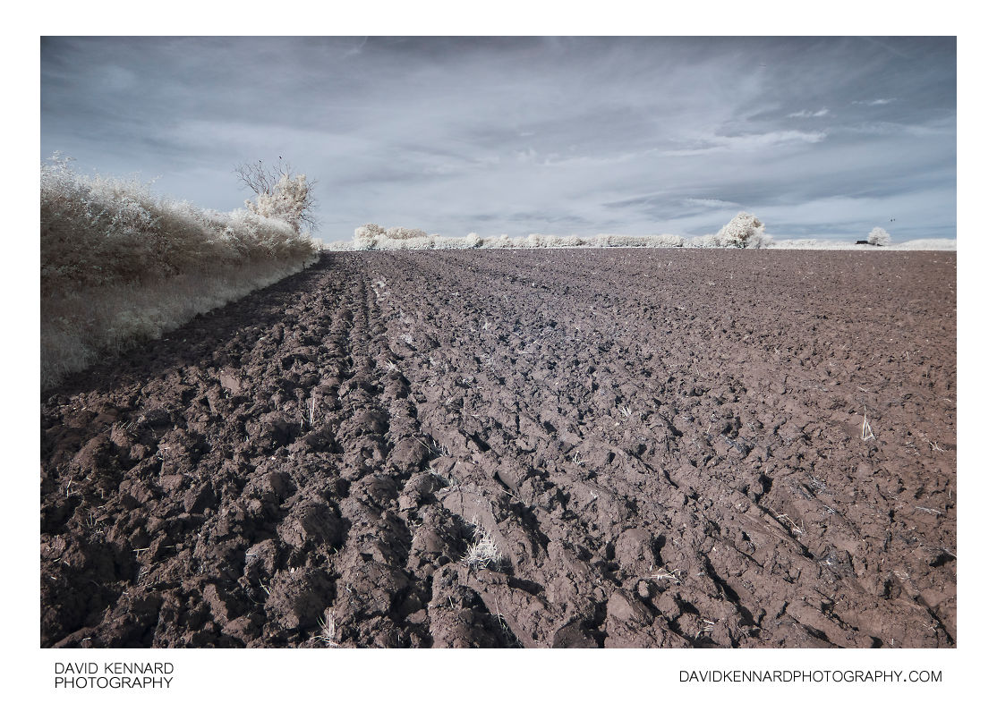 Ploughed field near Harborough in infrared