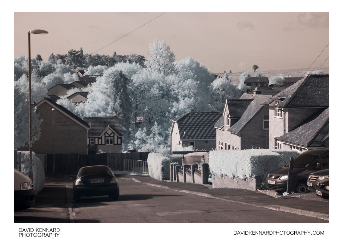 Knoll Street, Market Harborough in infrared