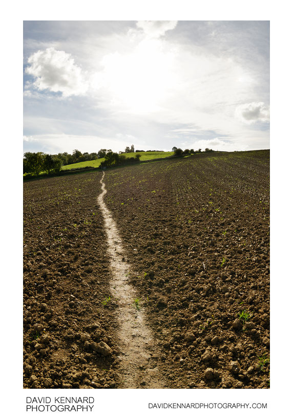 Ploughed field between Harborough and Great Bowden