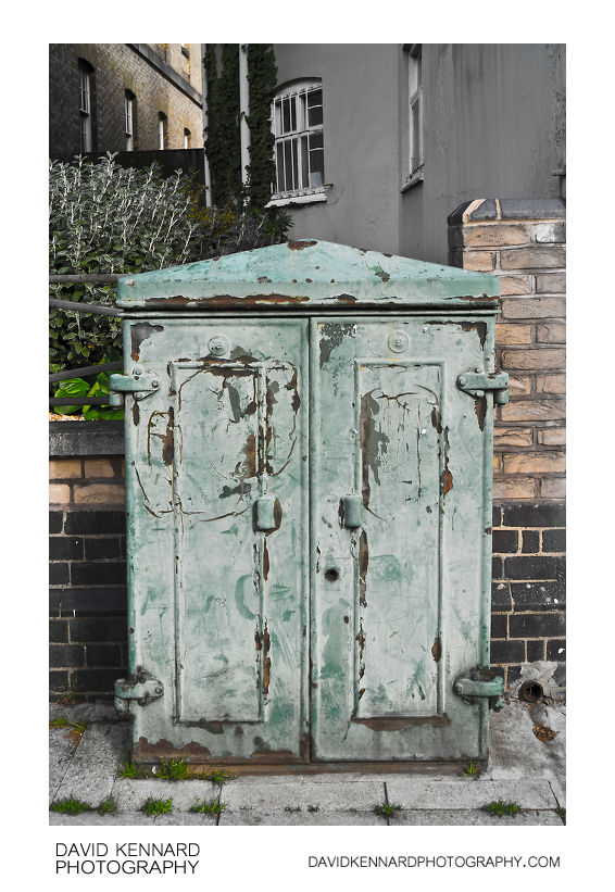 Old telephone cabinet