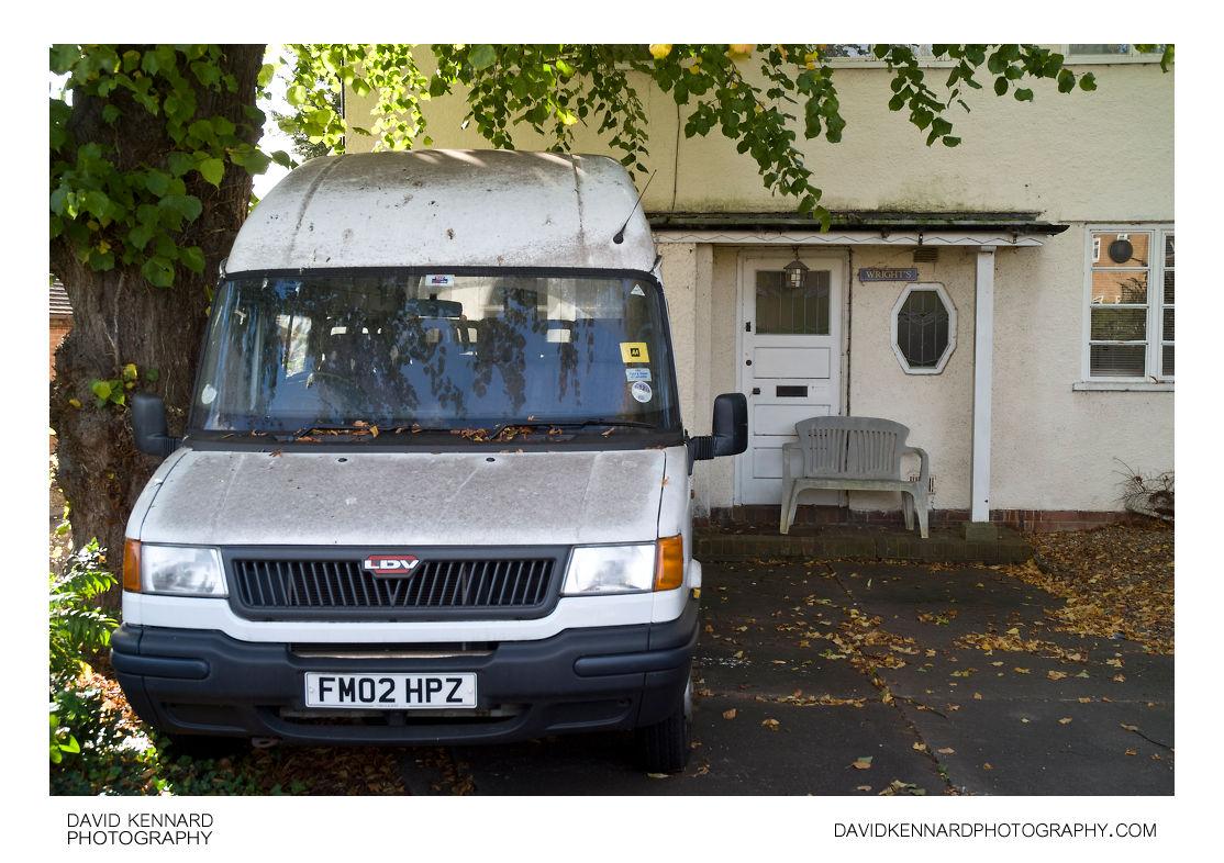 White van outside house