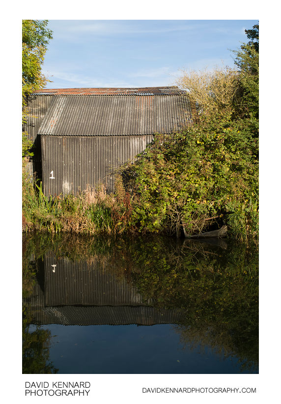 Corrugated sheet building by the Grand Union Canal