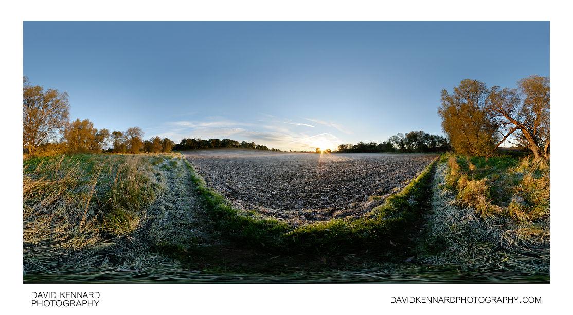 Sunrise over ploughed field, Market Harborough
