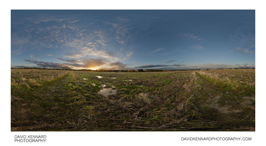 Farndon Fields at sunset