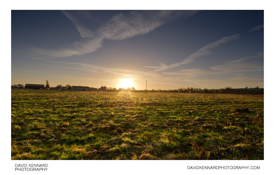 Sunrise over Farndon Fields