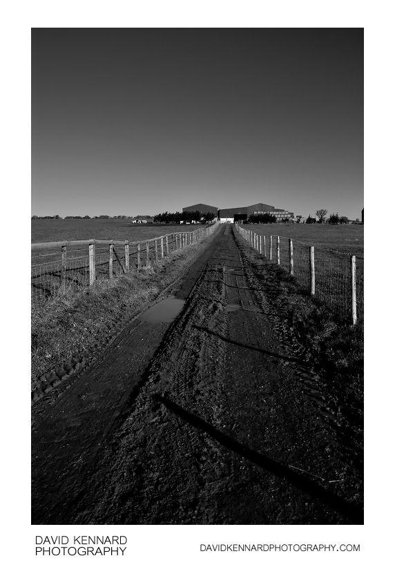 Muddy farm track