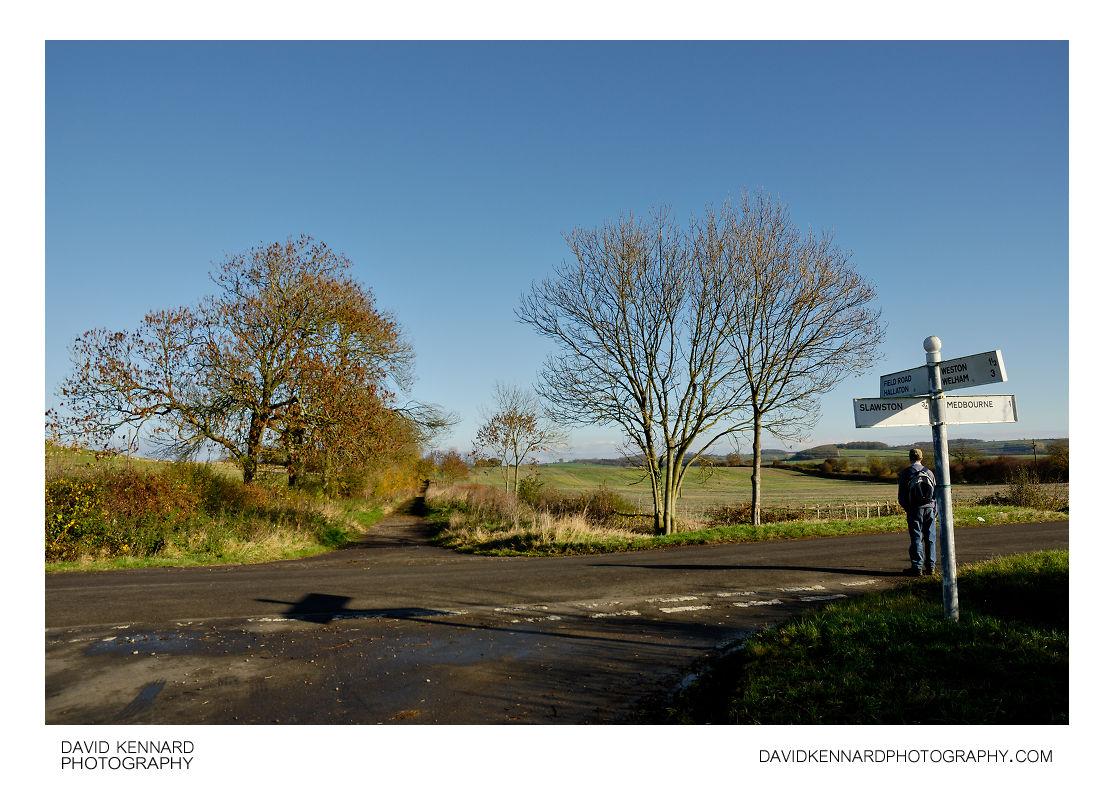 Green Lane, Medbourne Road, Slawston Road crossroads