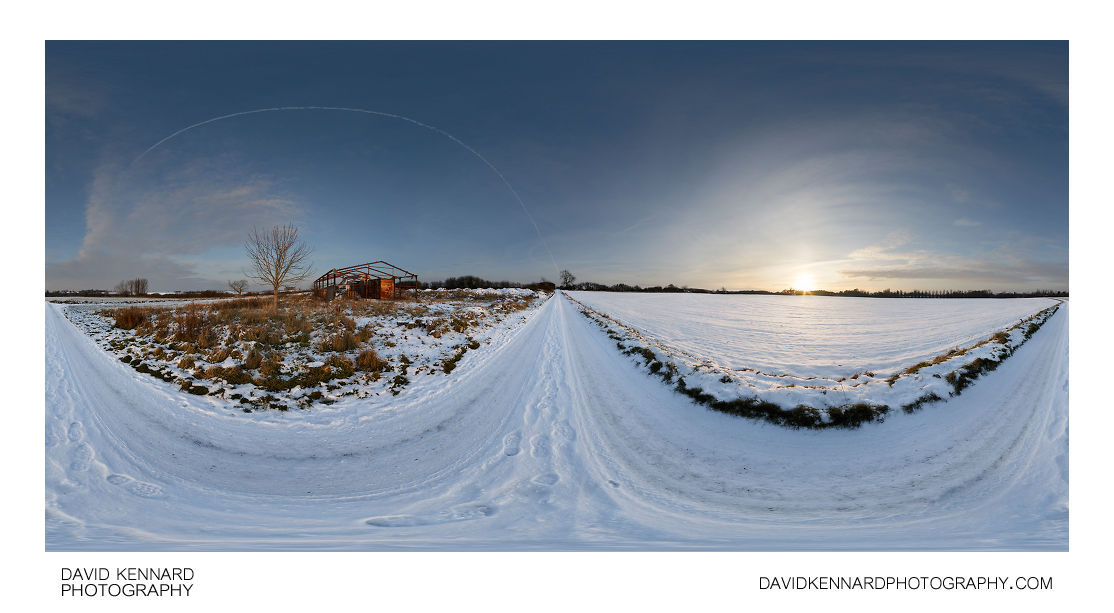 East Farndon to Lubenham Road in the snow