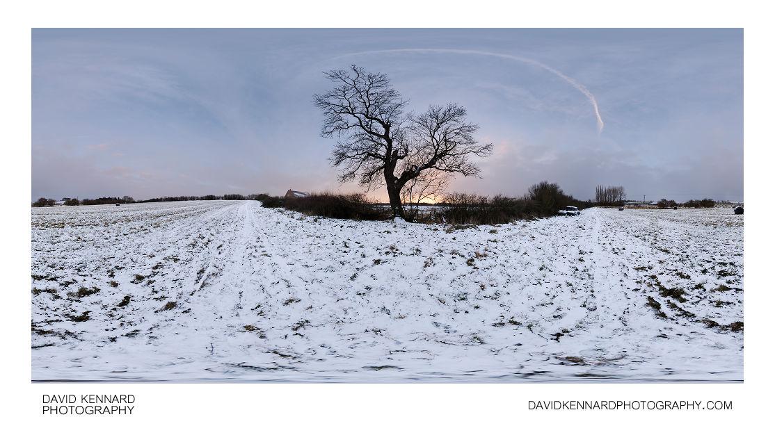 Snowy field at twilight Dec 2010