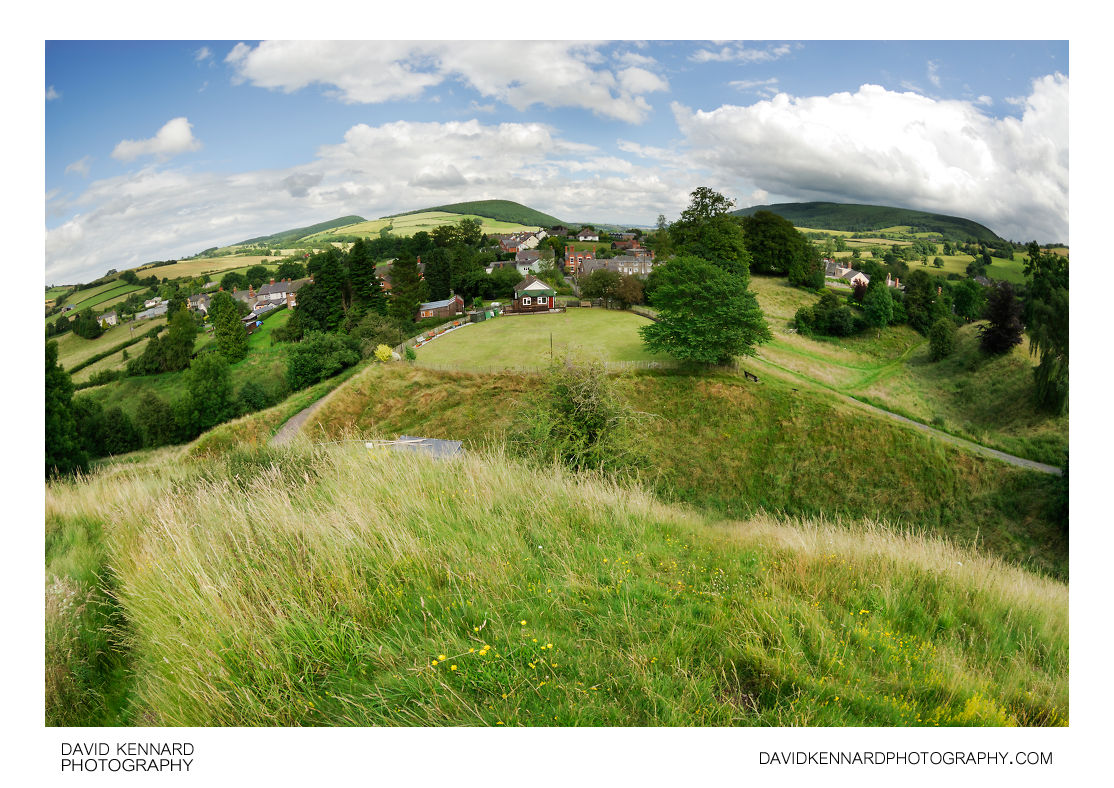 Clun from the castle