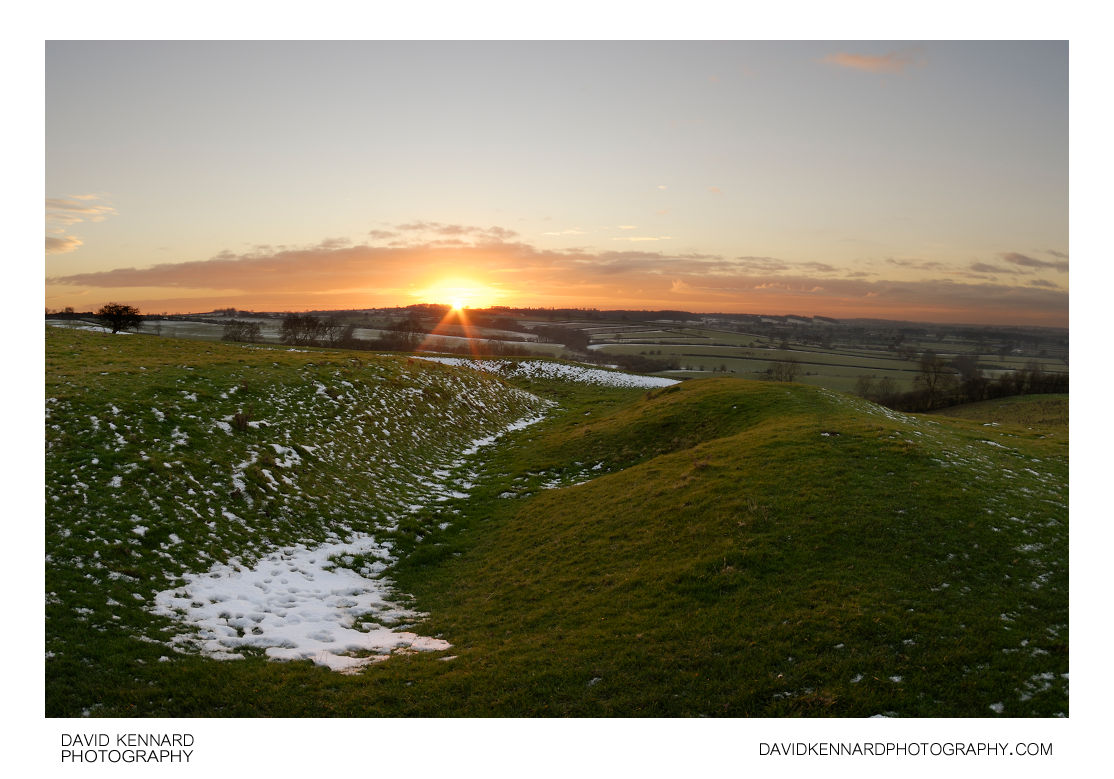 East Farndon earthworks at sunset