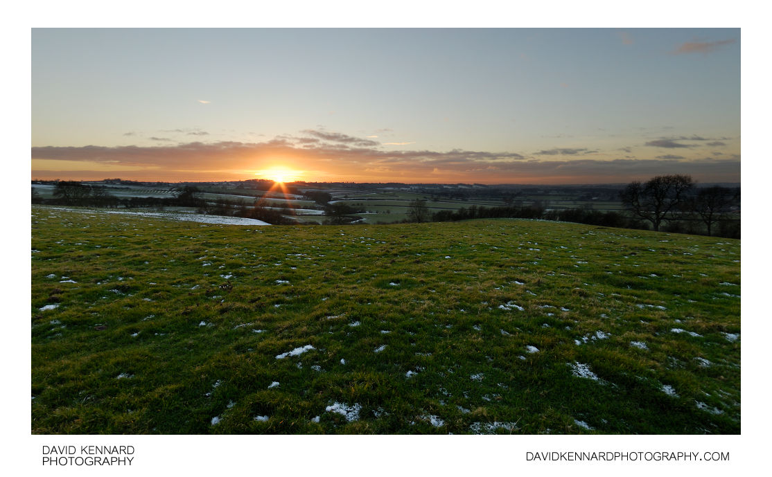 Winter sunset from East Farndon hill