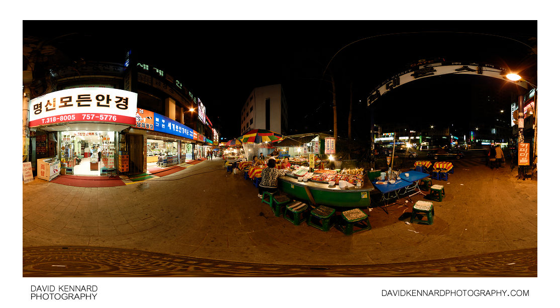 Namdaemun Market Gate 6 at night