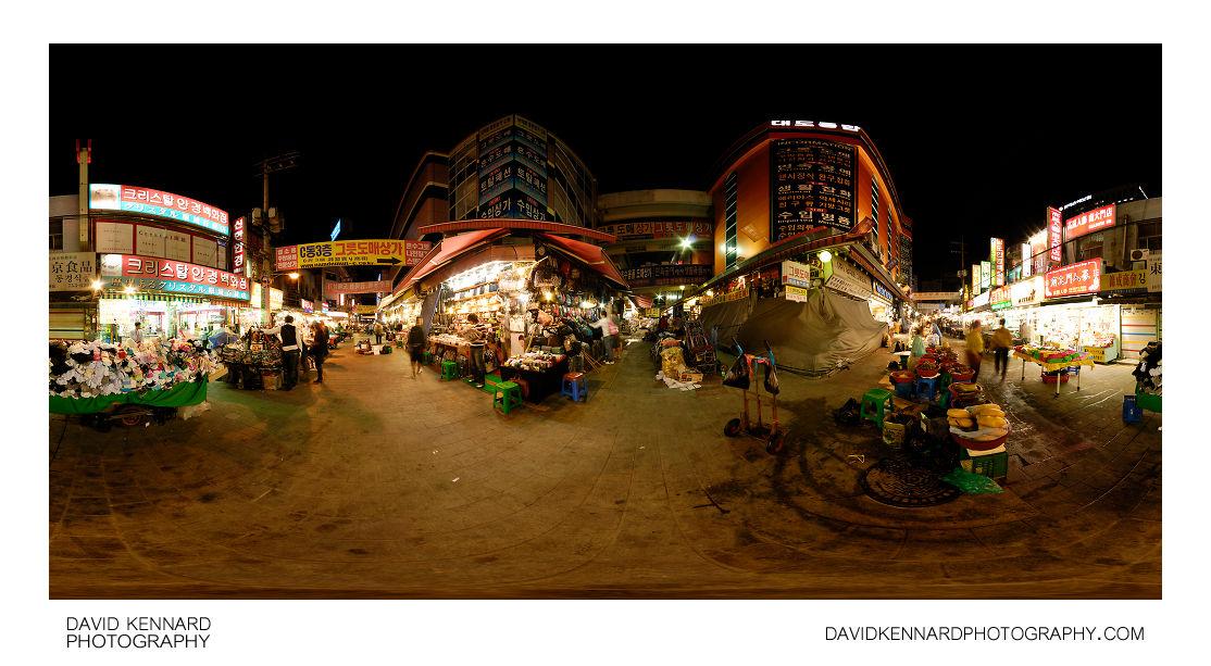 Namdaemun Market at night