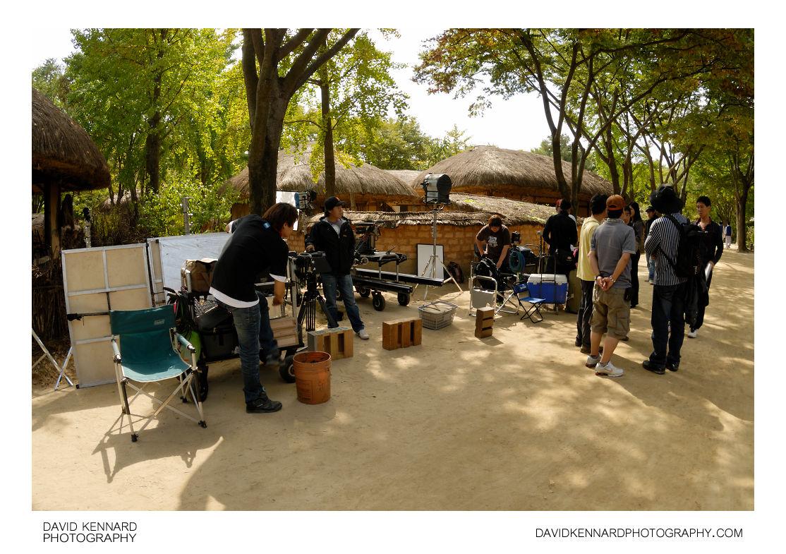 Film crew at the Korean Folk Village