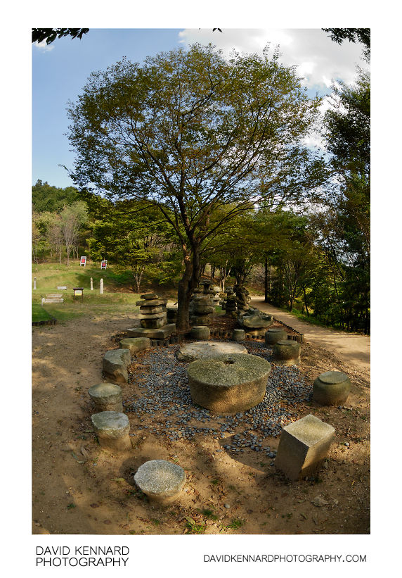 Stonework and tree, Korean Folk Village