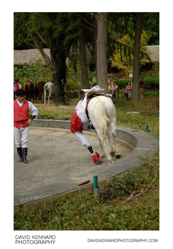 Horseback riding demonstration, Korean Folk Village