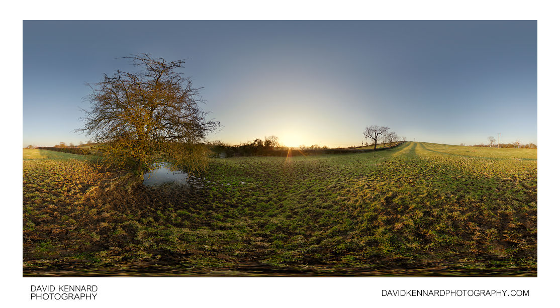 Sunset over East Farndon Field