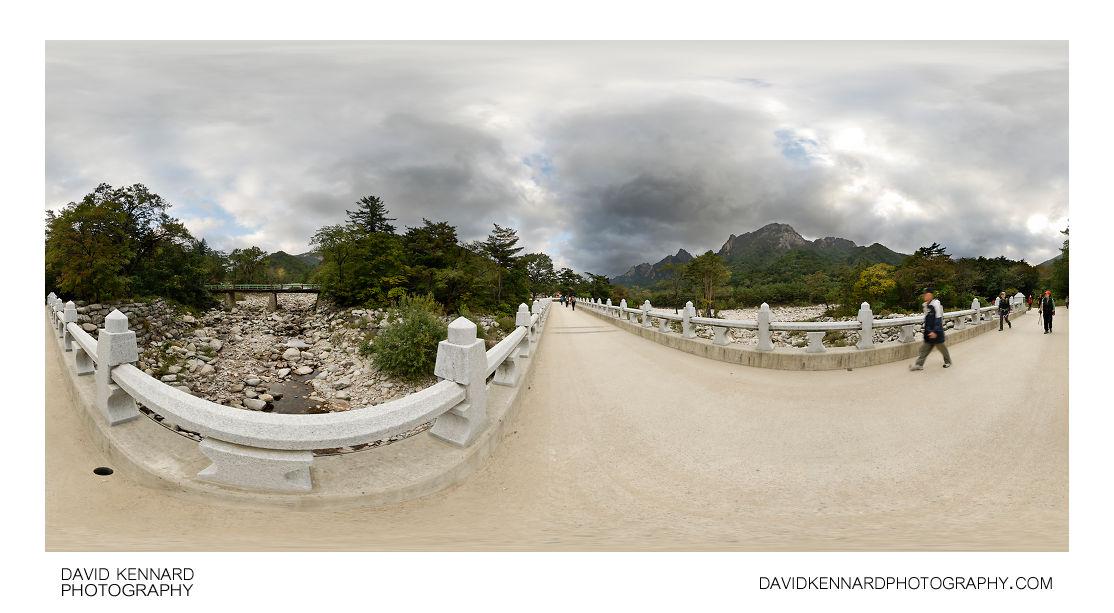 Bridge over dry river, Seoraksan National Park