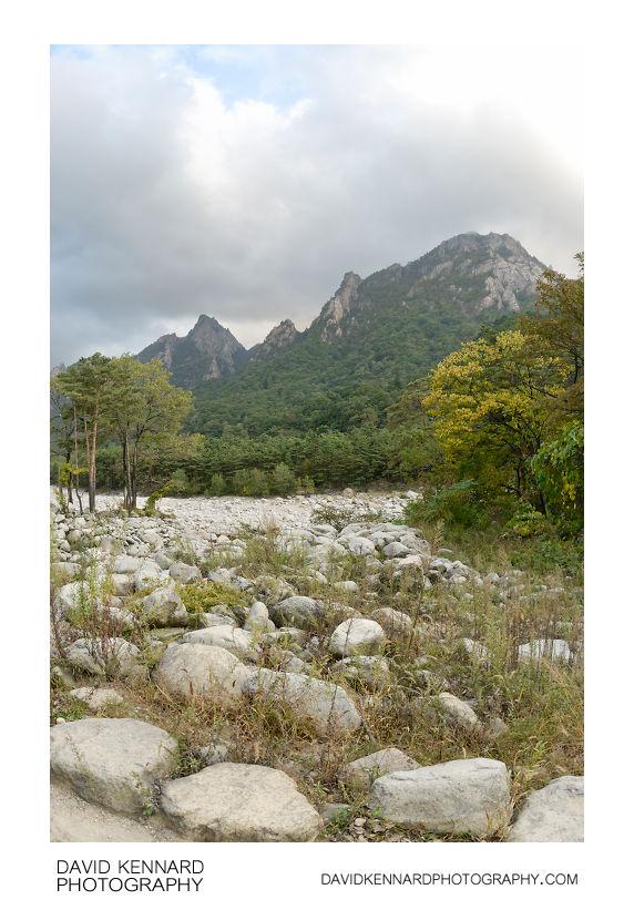 Dry riverbed and Soraksan