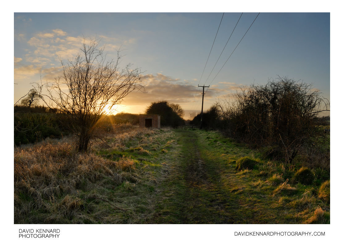 Old railway line at sunset, Market Harborough