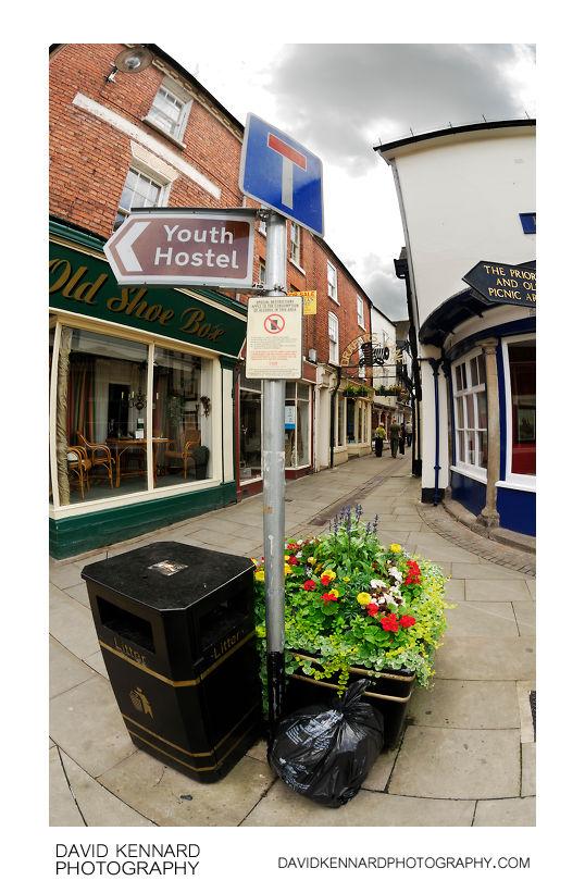 Rubbish, Signpost, Flowers