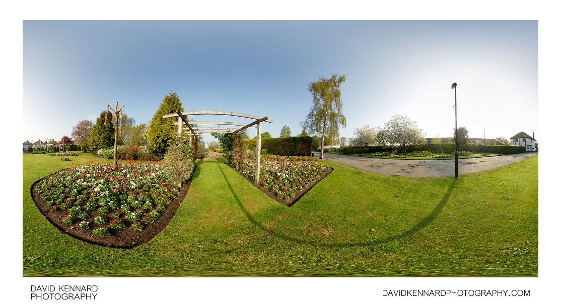 Flower displays at Welland Park, Market Harborough
