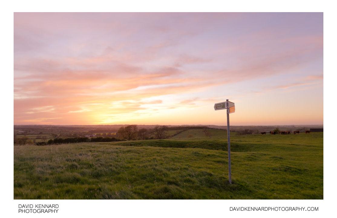 Sunset over East Farndon hill