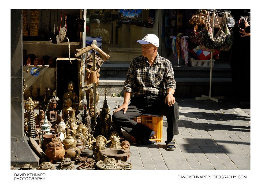 Antiques street seller, Insadong