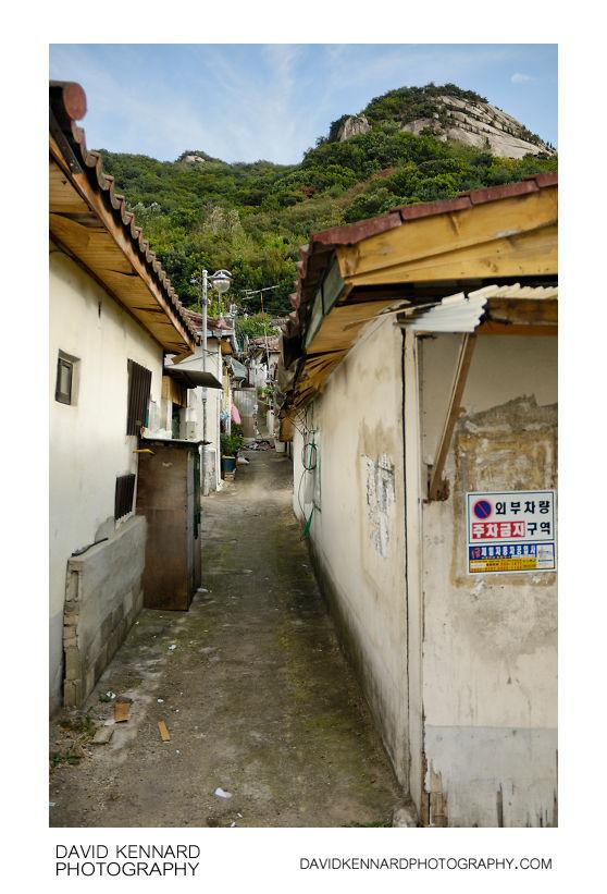 Small houses at bottom of Buramsan