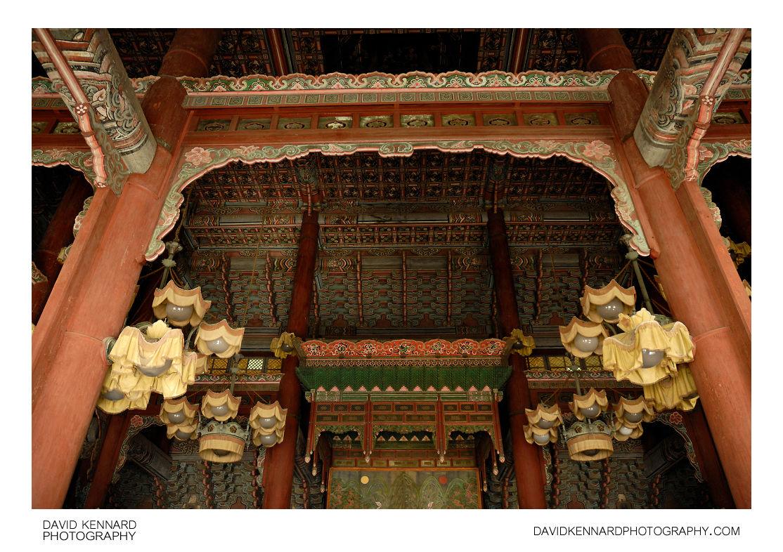 Roof of Injeongjeon, Changdeokgung palace