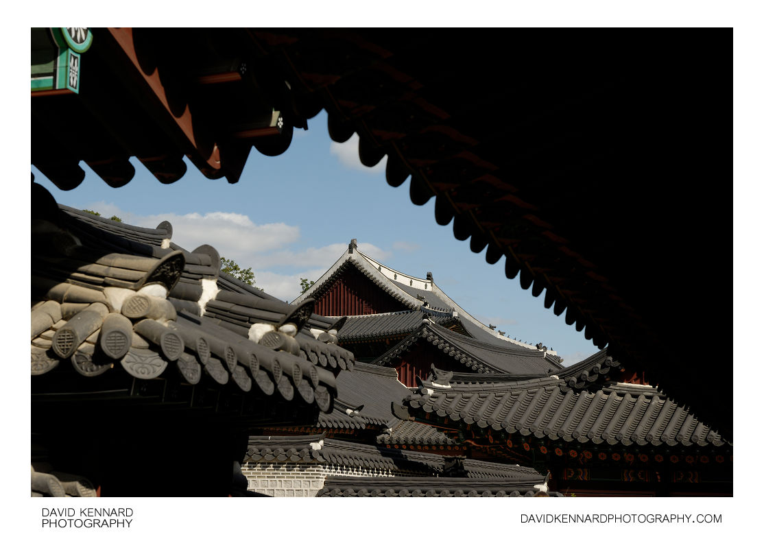 Palace building roofs, Changdeokgung