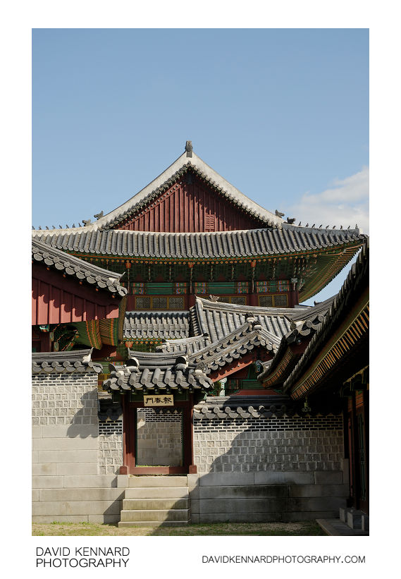 Bochunmun and Injeongjeon, Changdeokgung palace