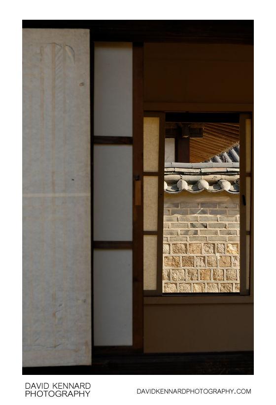 Windows and wall, Changdeokgung palace