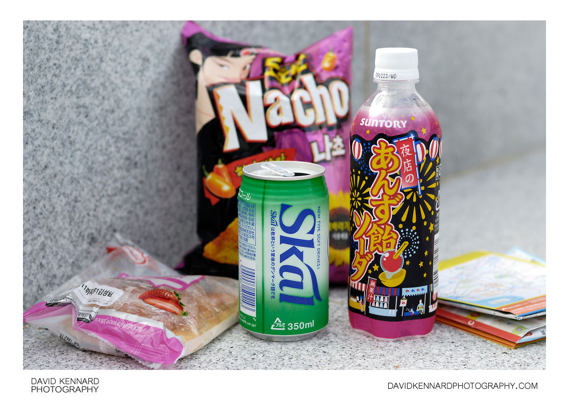 Korean snacks and Japanese sodas