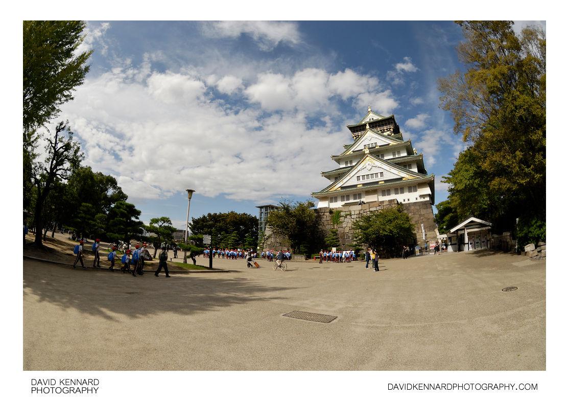 Square and Tenshukaku, Osaka Castle
