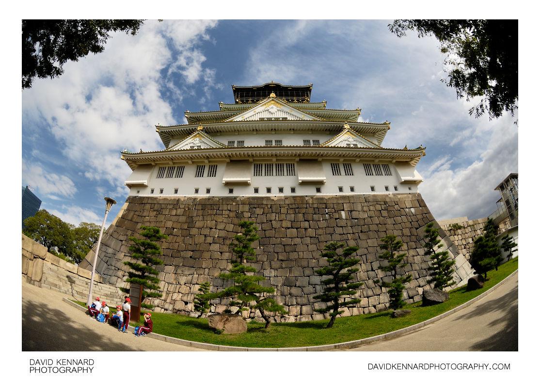 West facing side of Tenshukaku, Osaka Castle