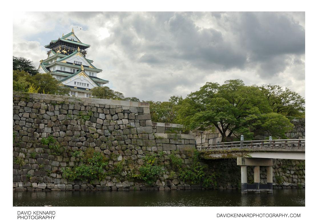 Osaka Castle inner moat and tower