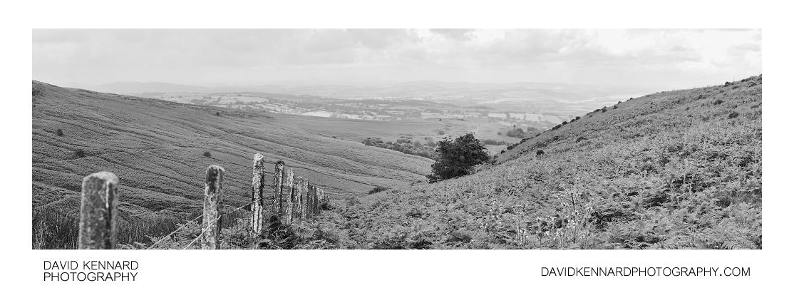View down Brown Clee Hill