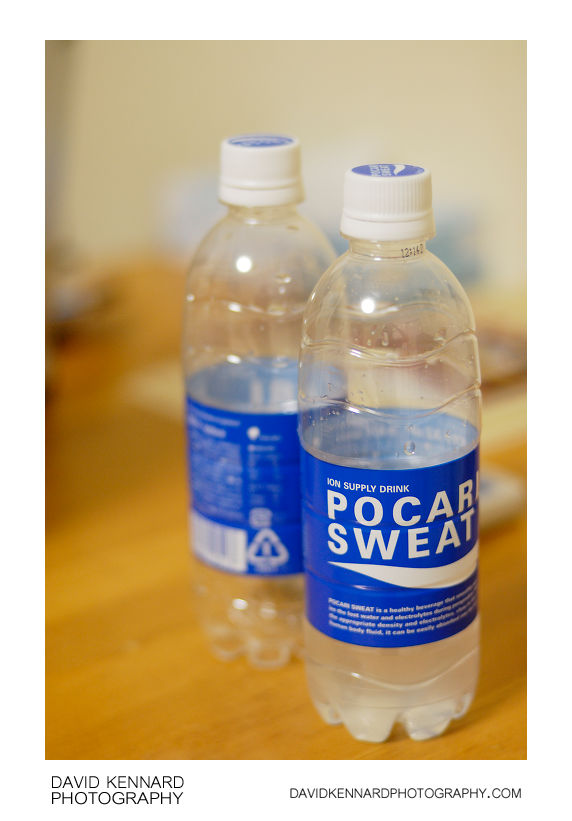 Pocari Sweat bottles
